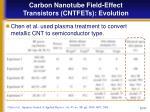 carbon nanotube field effect transistors cntfets evolution16