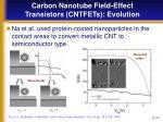 carbon nanotube field effect transistors cntfets evolution17
