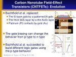 carbon nanotube field effect transistors cntfets evolution2