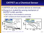 cntfet as a chemical sensor