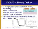cntfet as memory devices2