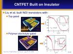 cntfet built on insulator1