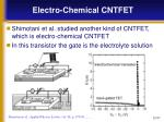 electro chemical cntfet