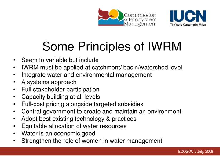 Some Principles of IWRM