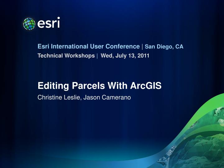 editing parcels with arcgis n.
