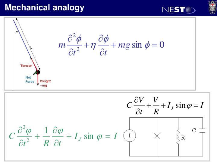 Mechanical analogy