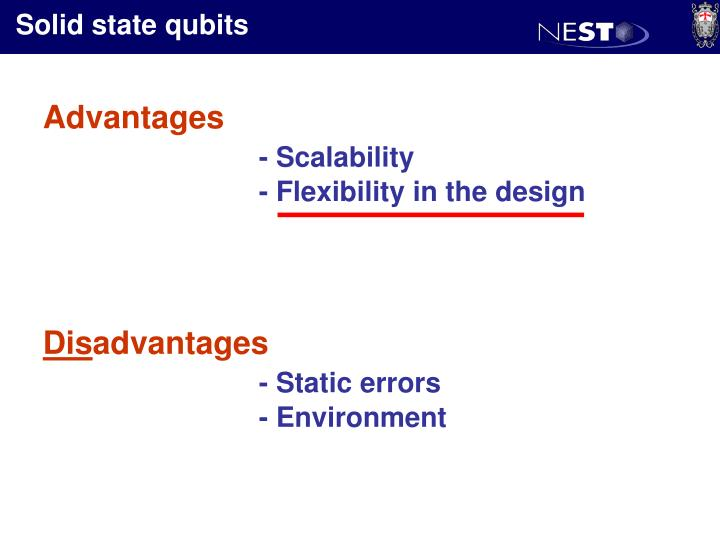 Solid state qubits