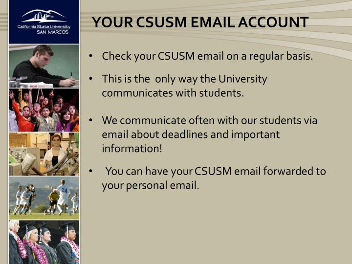 Your CSUSM Email account