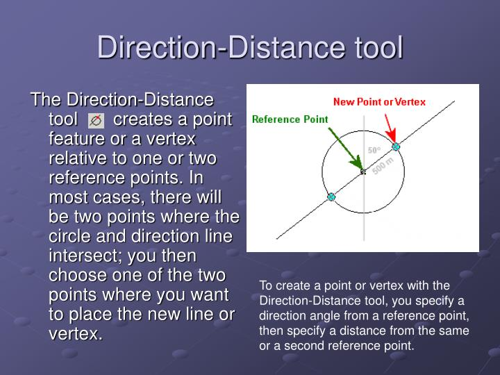 Direction-Distance tool