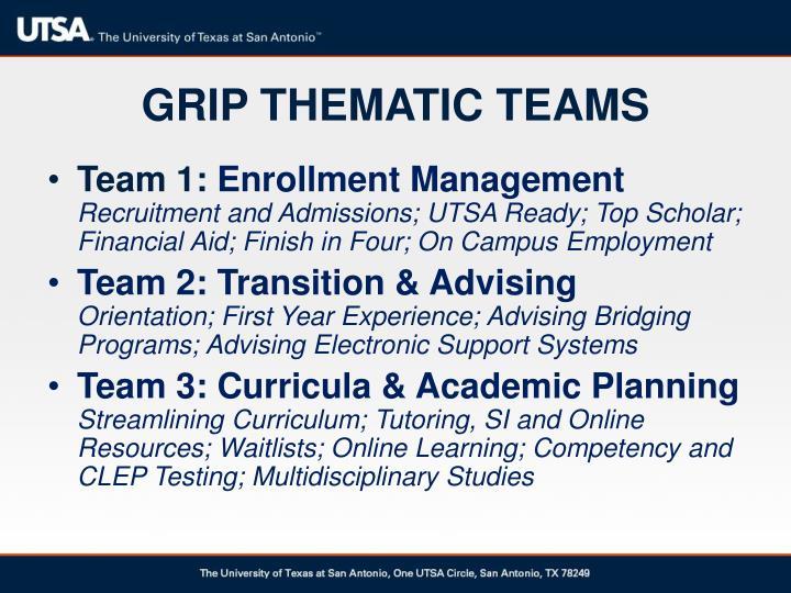 Grip thematic teams