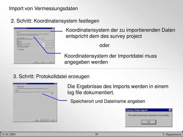 Import von Vermessungsdaten