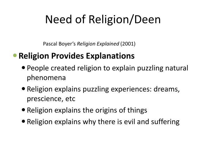 Need of Religion/Deen