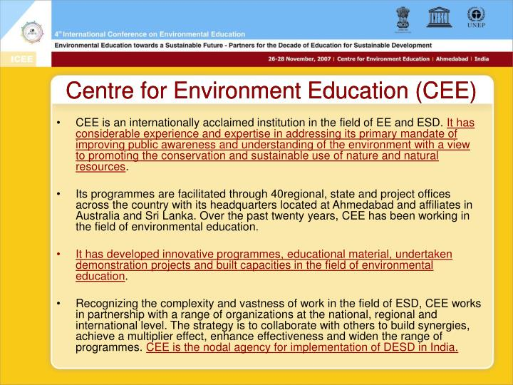 Centre for Environment Education (CEE)