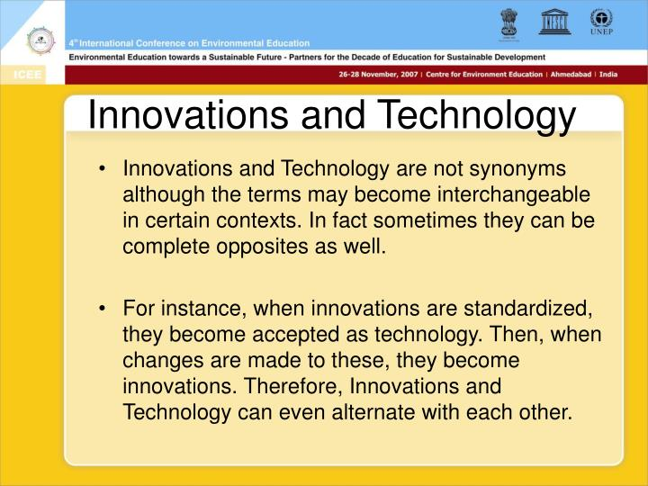 Innovations and Technology