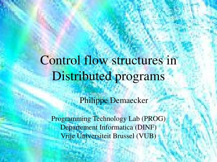 control flow structures in distributed programs