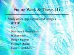 future work thesis 1