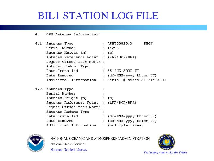 BIL1 STATION LOG FILE
