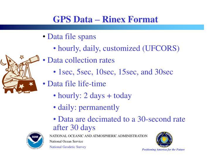 GPS Data – Rinex Format