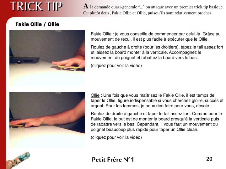 TRICK TIP