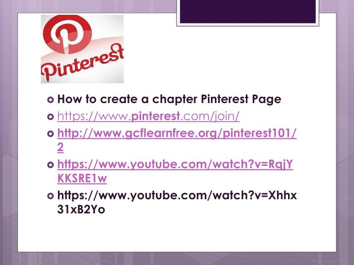 How to create a chapter