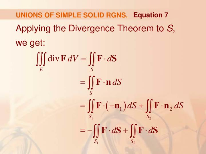 UNIONS OF SIMPLE SOLID RGNS.