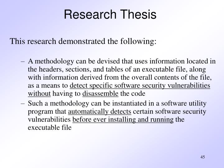 Research Thesis