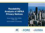 readability analysis of hipaa privacy notices