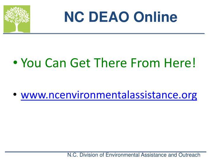 NC DEAO Online