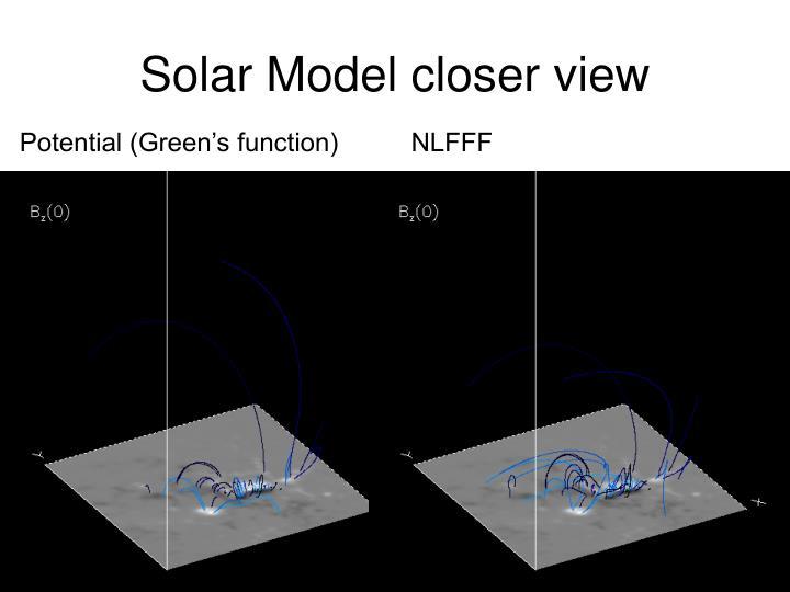 Solar Model closer view