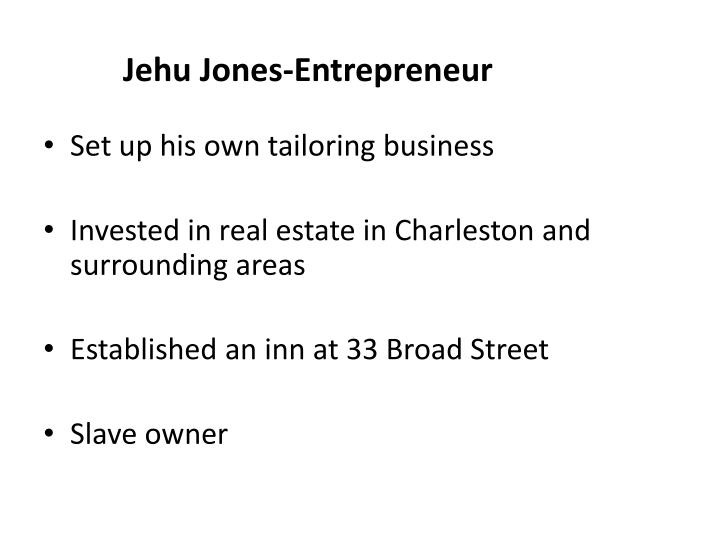 Jehu Jones-Entrepreneur