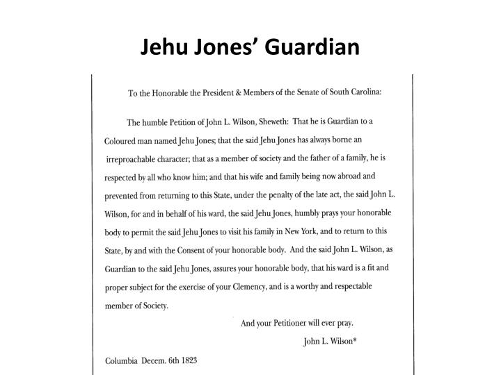 Jehu Jones' Guardian