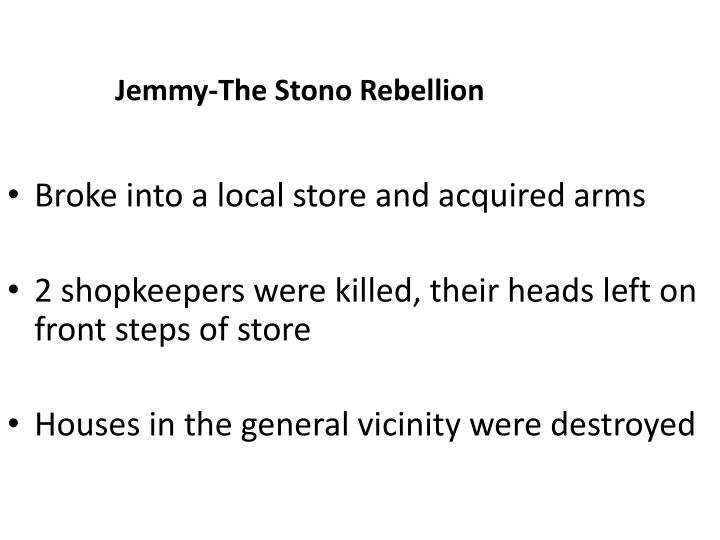 Jemmy-The Stono Rebellion