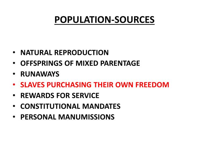 POPULATION-SOURCES