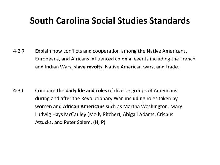 South Carolina Social Studies Standards