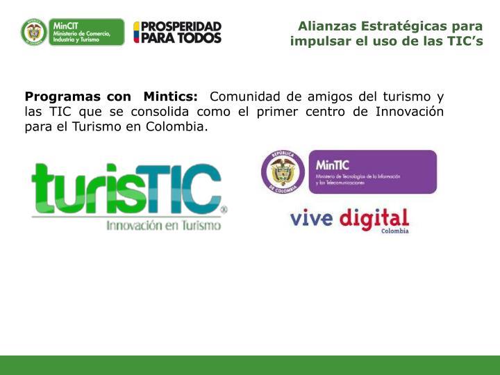 Alianzas Estratégicas para impulsar el uso de las TIC