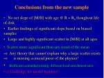 conclusions from the new sample1