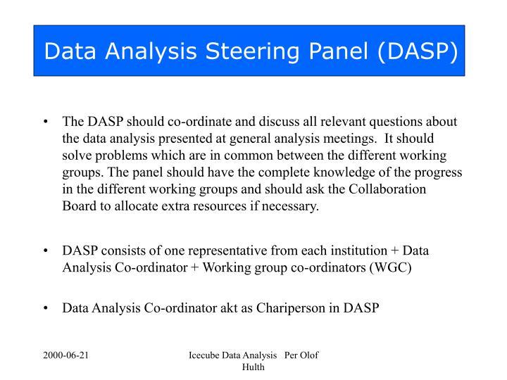 Data analysis steering panel dasp