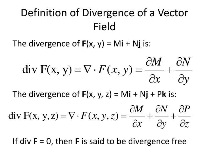 Definition of Divergence of a Vector Field