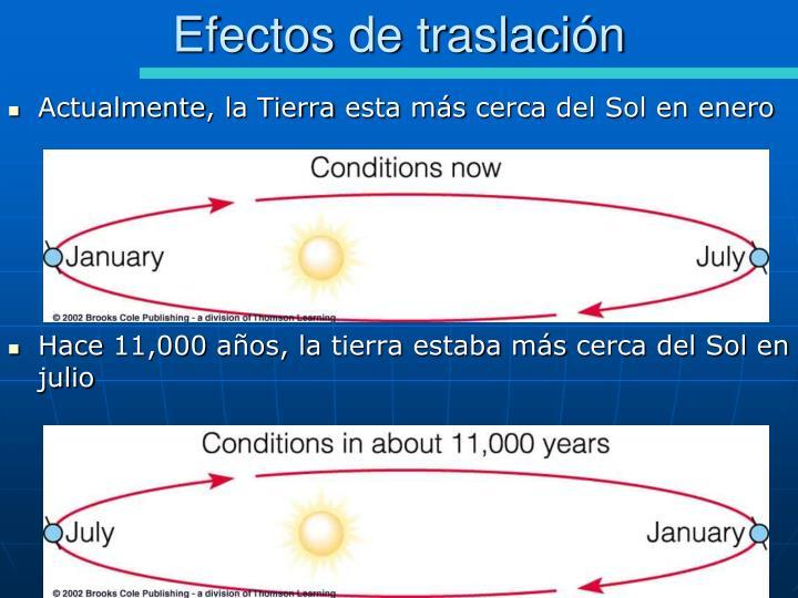 Efectos de traslación