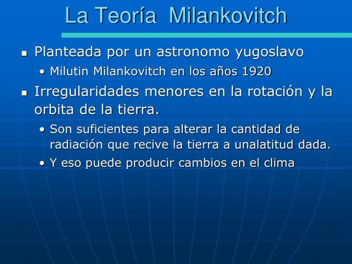 La Teoría  Milankovitch