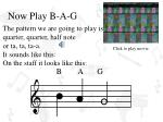 now play b a g