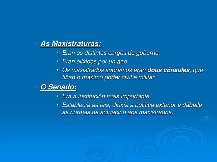 As Maxistraturas:
