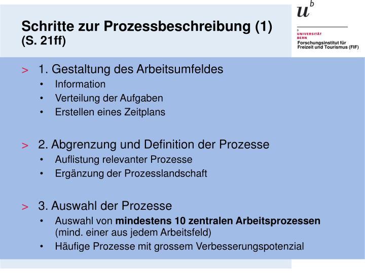 Schritte zur Prozessbeschreibung (1)