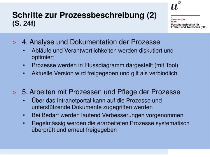 Schritte zur Prozessbeschreibung (2)