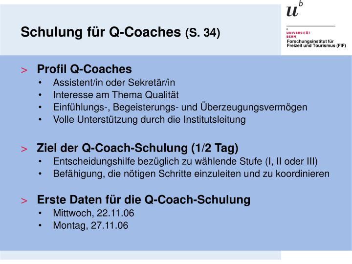 Schulung für Q-Coaches