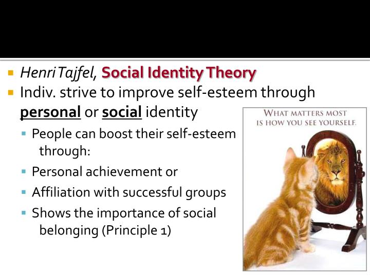 comparing tajfels social identity theory and This essay provides concise descriptions of two paradigms used to explore identity, erikson's psychosocial theory and tajfel's social identity.
