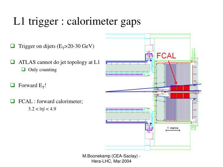 L1 trigger : calorimeter gaps