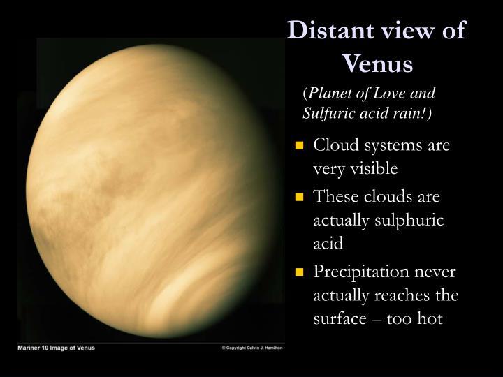 Distant view of Venus