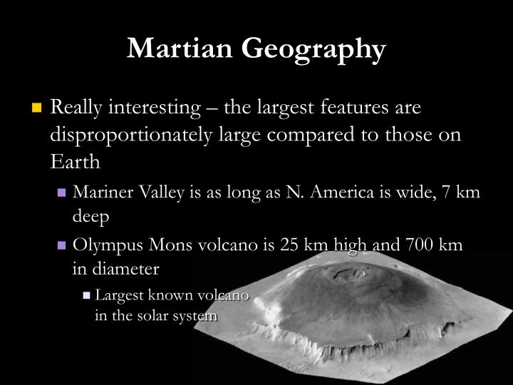 Martian Geography
