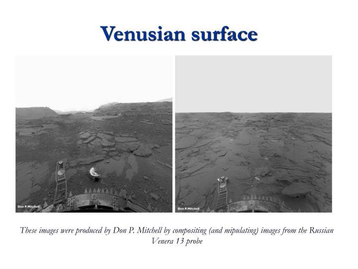 Venusian surface